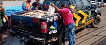 Prefeitura de Autazes faz doação de mais de 4 toneladas de peixes.